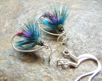 Ruthless, Fly Fishing Earrings, Fly Fishing, Fishing Gifts, Hand Tied Flies, Hand Made Jewelry, Glamping, Camping Earrings, Gifts for Her