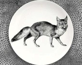 Fox melamine plate dinnerware