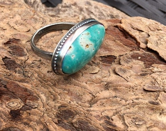 Cloud Mesa Turquoise Statement Ring Sterling Silver