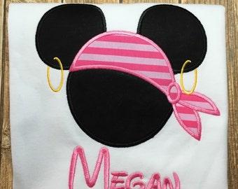 Girls disney cruise minnie pirate shirt