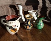 Collection of five miniature pitchers