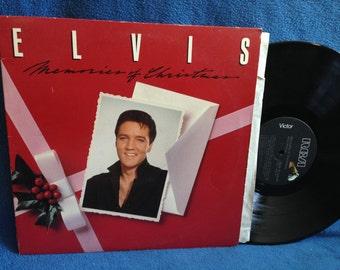 "Vintage, Elvis Presley - ""Memories Of Christmas"", Vinyl LP Record Album, Silver Bells, Merry Christmas Baby, The King, Traditional, Classics"