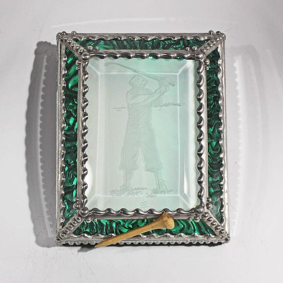 Etched Golfer - Treasure Box