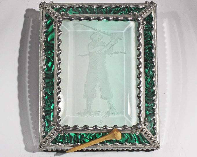 Etched Golfer - Treasure Box