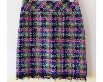 Vintage Christian Lacroix Bazar mohair and wool tweed skirt