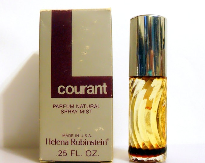 Vintage 1970s Courant by Helena Rubinstein 0.25 oz Parfum Spray Mist in Box CLEARANCE PERFUME
