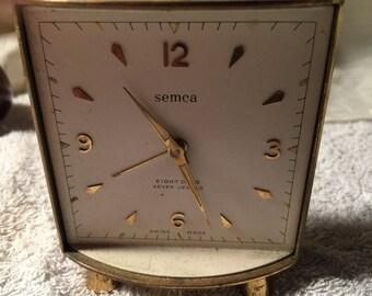 Vintage Semca Swiss Made Alarm Clock