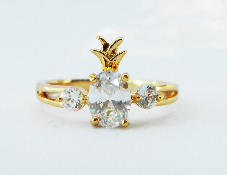 Pineapple Ring Retro Gold Pineapple Ring