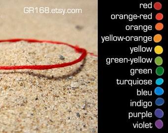 red string bracelet red string of fate anklet orange yellow green indigo violet purple chakra mens bracelets something blue rainbow gold red
