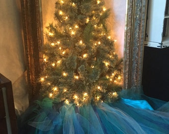 Peacock Christmas Tree Skirt
