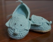 Cozy Elephant Slippers--Adult Size