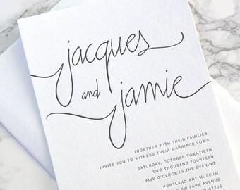 FLAT SAMPLE  |  Modern Calligraphy Suite  | wedding invitation  |  calligraphy  |  simple  |  weddings  |  invitation  | modern invitation