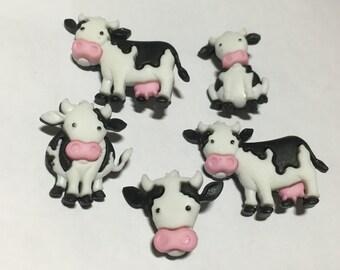 5 piece cow button set, 17 - 34 mm (19)