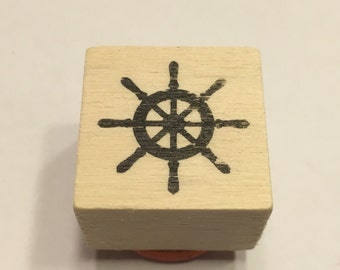 small wheel / helm rubber stamp, 22 mm (A11/1)