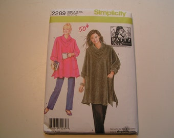 Simplicity Pattern 2289 Patty Reed Design Miss Loose Fitting Tunic and Knit Pants