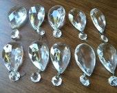 """10 Vintage 2"""" Chandelier Clear Crystal Prisms"""