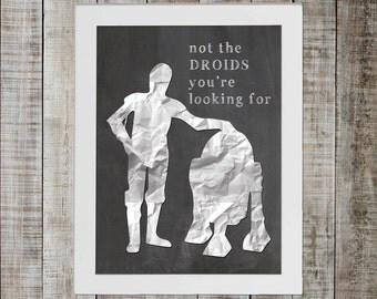 C3PO & R2-D2 Star Wars Print - 'not the droids you're looking for'