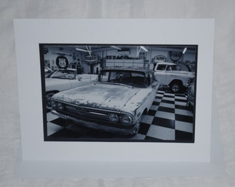 photo card, classic car, Route 66 photography