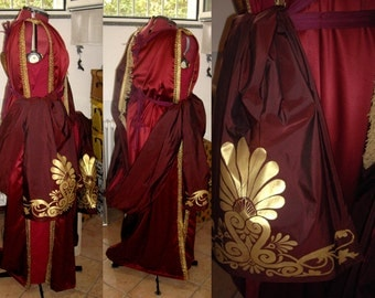 "MADE TO ORDER Cosplay Gladiator ""Lucilla"" red dress Roman Empire Imperial Princess Goddes"