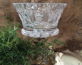 Cut Glass Crystal Compote Pedestal Bowl