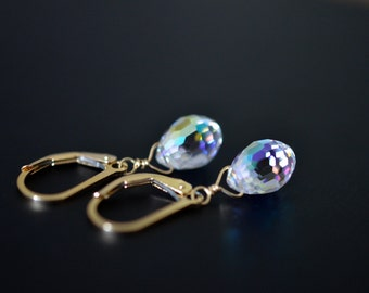 Swarovski Crystal AB Teardrop Earrings