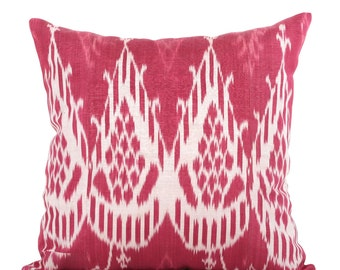 19 x 19 Pillow Cover Ikat Pillow Cover Old Ikat Pillow Cover Throw Pillow Decorative Pillow FAST SHIPMENT with ups or fedex - 09096