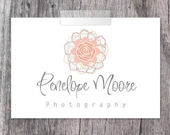 Premade Logo Design - Photography Watermark Logo - Floral Logo
