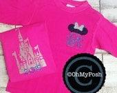 Disney Castle Monogram Shirt or Tank disney tank disney shirt comfort colors disney family minnie shirt minnie tank minnie mouse disney