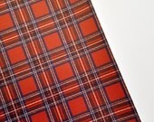 EXCLUSIVE 8x11 Red Tartan Faux Leather Fabric Sheet