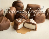 Coconut Truffles - Milk Chocolate Covered