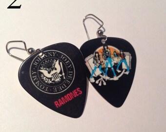 The Ramones Guitar pick earrings