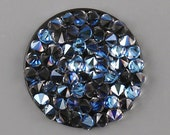 3 size! Crystal rocks MOONLIGHT on black Swarowski 15mm 20mm 25mm 30mm