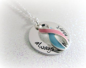 Baby Loss Awareness Necklace - Pregnancy and Infant Loss Jewelry, SIDS Awareness, Stillbirth Awareness, Miscarriage Keepsakes PAIL MONTH