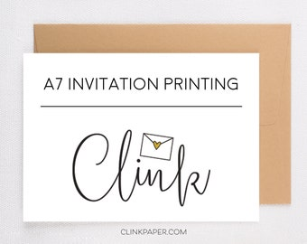 Invitation Printing & Envelopes- A7