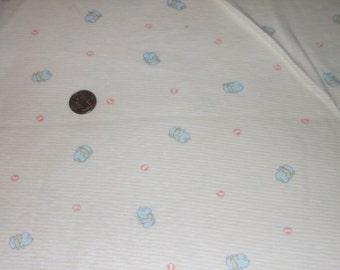 """BABY YELLOW w/ ELEPHANTS Jersey Knit  Fabric  74 """" x 62"""""""
