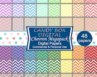 Rainbow Chevron Megapack - Commercial Use OK