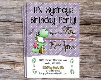Yoshi Birthday Party Invite