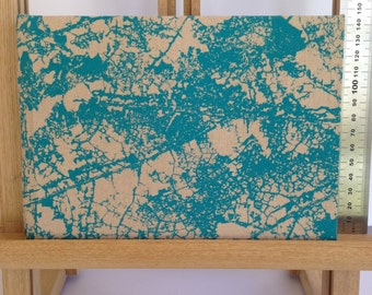 Medium Hard Cover Journal, Teal, Art Diary, Notebook, Blank
