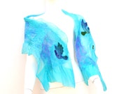 Nuno Felted Silk Scarf Doves