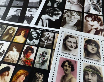 DIVAS and DANCERS - 100s of Dazzling, Vintage Beauties in This Paper Collage Sheet Collection!