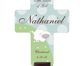 Personalized Little Lamb Holy Cross