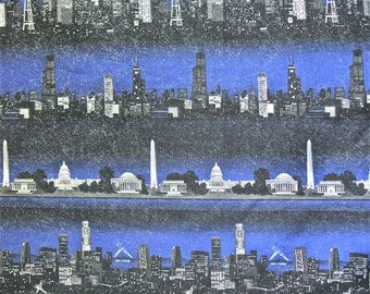 City Skyline Fabric 5 yd x 44 in