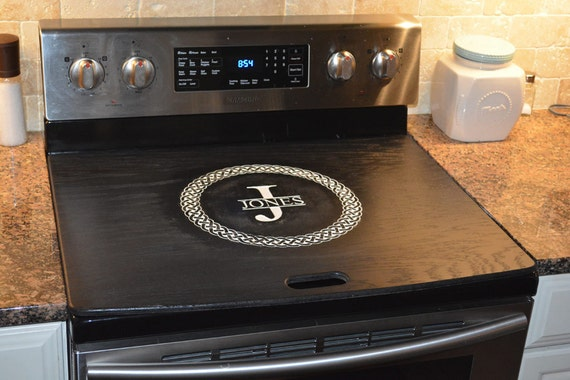stove top covers celtic stove top cover black white range topper engraved 29497