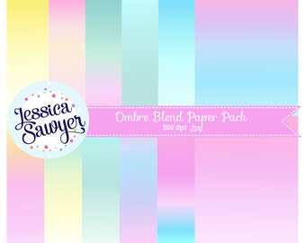 INSTANT DOWNLOAD - Ombre Digital Paper Pack for Personal and Commercial Use