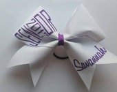 Senior with Year and Name Cheer Bow, You choose the color.