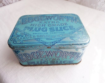 Vintage Edgeworth Plug Slice Tobacco Tin