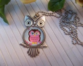 owl necklace, good luck