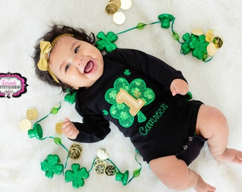 My First St. Patrick's Day Shirt,Baby St. Patrick, 1st St. Patrick, Girl St. Patrick, Baby Shower, Holiday Shirt