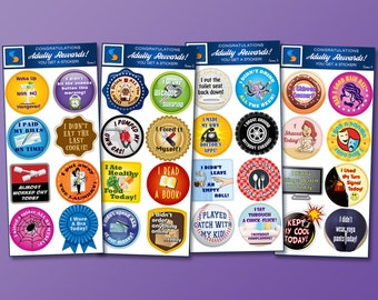 32 Adult Reward Stickers Series 1-4 You Adulted Today | adulting reward funny decal stickers gag gift college student gift funny stickers