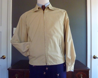 RARE Vintage 1960s CAMPUS Harrington G9 Style Light Jacket Size L 42 or 44 R. Made in USA.